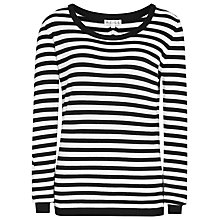 Buy Reiss Striped Anika Jumper, Black/Cream Online at johnlewis.com
