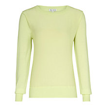 Buy Reiss Rover Plain Silk Front Jumper, Mint Online at johnlewis.com