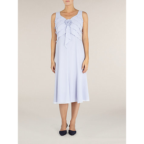 Buy Jacques Vert Chiffon Layer Dress, Lilac Online at johnlewis.com