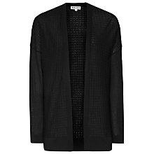 Buy Reiss Waffle Knit Porty Cardigan, Black Online at johnlewis.com