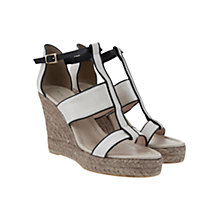Buy Mint Velvet Gloria Leather Sandals, Stone / Black Online at johnlewis.com