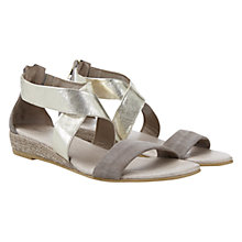 Buy Mint Velvet India Leather Sandals, Taupe Online at johnlewis.com