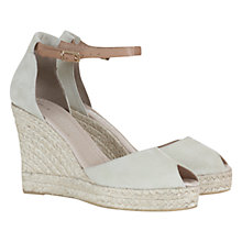 Buy Mint Velvet Bryony High Wedge Sandals, Cream / Tan Online at johnlewis.com