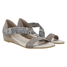 Buy Mint Velvet Ella Snakeskin Wedge Sandals, Grey Online at johnlewis.com