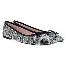 Buy Mint Velvet Emma Snakeskin Pumps, Grey / Stone Online at johnlewis.com