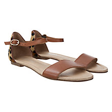 Buy Mint Velvet Gabby Leather Sandals, Leopard Online at johnlewis.com