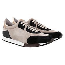 Buy Mint Velvet Tilly Suede Trainers, Natural / Black Online at johnlewis.com