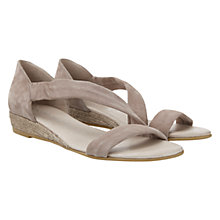 Buy Mint Velvet Ella Suede Wedge Sandals, Mink Online at johnlewis.com
