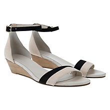 Buy Mint Velvet Livia Sandals, Nude / Black Online at johnlewis.com