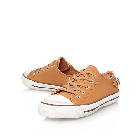 Buy Kurt Geiger Liberty Leather Lace Up Trainer Plimsolls Online at johnlewis.com