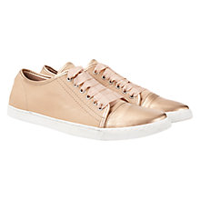 Buy Mint Velvet Masie Leather Plimsoll, Nude Online at johnlewis.com