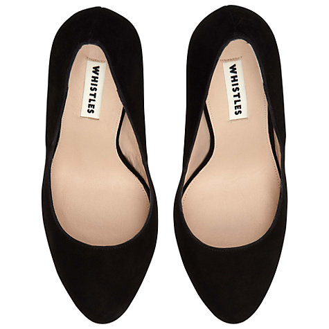 Buy Whistles Sandie Court Shoes, Black Online at johnlewis.com