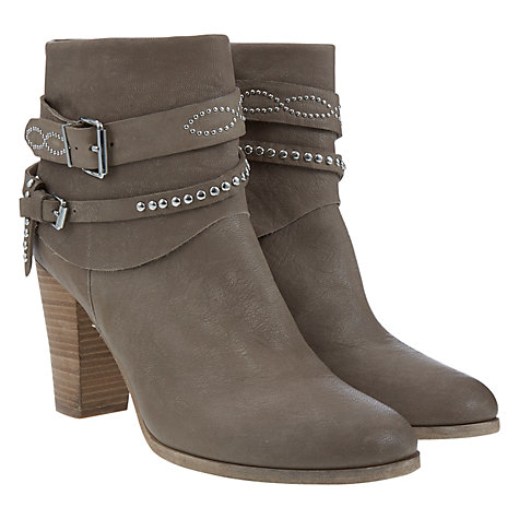Buy Mint Velvet Amber Leather Ankle Boots, Grey Online at johnlewis.com