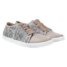 Buy Mint Velvet Milly Leather Snakeskin Trainer, Natural Online at johnlewis.com