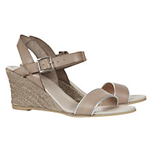 Buy Mint Velvet Lizzie Wedge Sandals, Tan Online at johnlewis.com