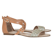 Buy Mint Velvet Kylie Sandals, Tan/Glitter Online at johnlewis.com