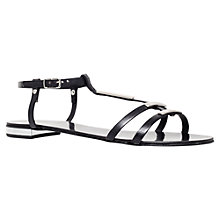 Buy Carvela Kinetic Leather Metal Trim Sandals Online at johnlewis.com