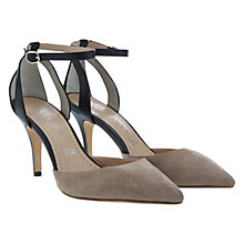 Buy Mint Velvet Alexa Court Shoes, Natural / Black Online at johnlewis.com