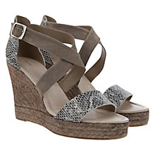 Buy Mint Velvet Lydia Wedge Sandals, Grey Online at johnlewis.com