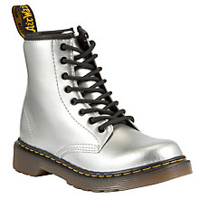 Buy Dr Martens Childrens' Delaney Boots, Silver Online at johnlewis.com