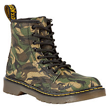 Buy Dr Martens Childrens' Camo Wax Boots Online at johnlewis.com