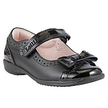 Buy Lelli Kelly Gabrielle Bow Applique Leather Shoes, Black Online at johnlewis.com