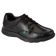 Buy Kickers Lace-Up Leather Shoes, Black Online at johnlewis.com