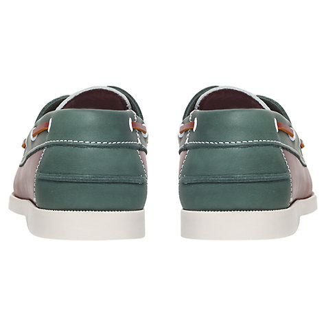 Buy KG by Kurt Geiger Cowes Leather Deck Shoes, Multi Online at johnlewis.com