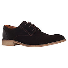 Buy KG by Kurt Geiger Suede Derby Shoes, Brown Online at johnlewis.com