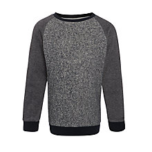 Buy John Lewis Boy Textured Jumper, Navy Online at johnlewis.com