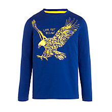 Buy John Lewis Boy Eagle Print T-Shirt, Blue Online at johnlewis.com