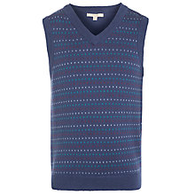 Buy John Lewis Boy Fleck Knit Tank Top, Navy Online at johnlewis.com