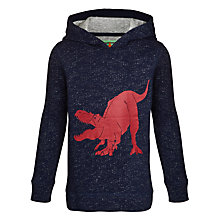 Buy John Lewis Boy Dinosaur Hoodie, Navy/Red Online at johnlewis.com
