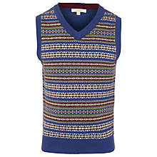 Buy John Lewis Heirloom Collection Boys' Fair Isle Knitted Tank Top, Navy/Red Online at johnlewis.com