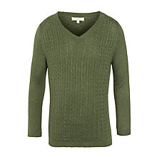 Buy John Lewis Boy Check Elbow Patches Jumper, Green Online at johnlewis.com