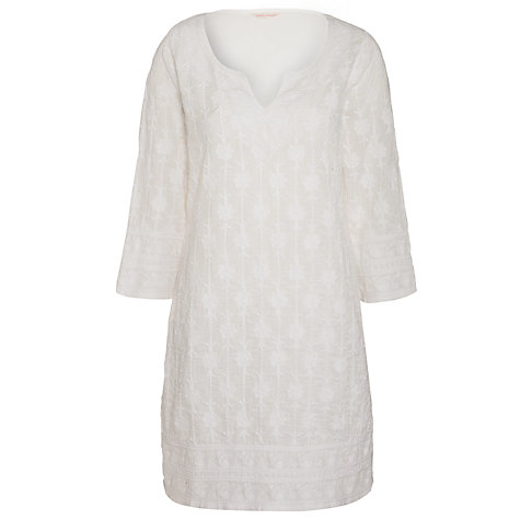 Buy John Lewis Embroidered Kaftan, White Online at johnlewis.com