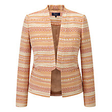 Buy Viyella Ella Jacquard Tuxedo Jacket, Orange Online at johnlewis.com