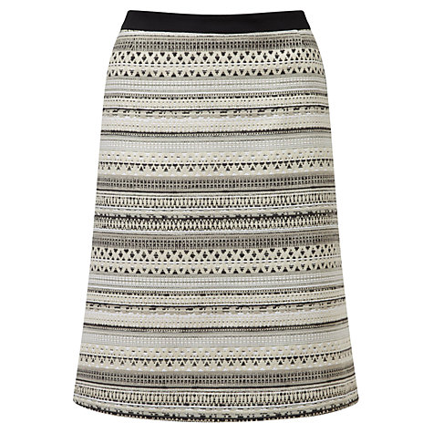Buy Viyella Ella Jacquard Skirt, Black Online at johnlewis.com