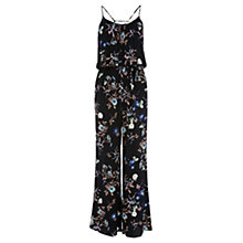 Buy Warehouse Floral Jumpsuit, Black / Multi Online at johnlewis.com