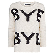 Buy Mango Bye Bye Slub Jumper, Natural White Online at johnlewis.com