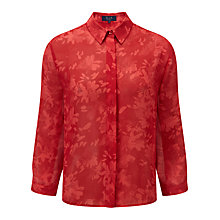 Buy Viyella Ella Floral Blouse, Brick Online at johnlewis.com