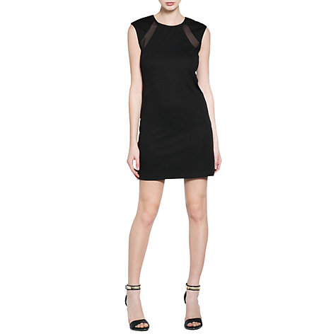 Buy Mango Tulle Panel Dress, Black Online at johnlewis.com