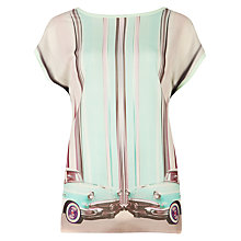 Buy Ted Baker Rully Keep On Rolling Graphic Top, Mint Online at johnlewis.com