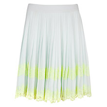 Buy Ted Baker Bluma Pleated Lace Stripe Skirt, Pale Green Online at johnlewis.com