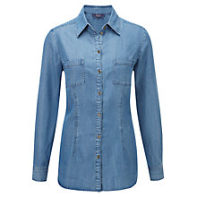 Buy Viyella Ella Tencel Shirt, Indigo Online at johnlewis.com