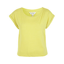 Buy Miss Selfridge Cropped T-Shirt, Chartreuse Online at johnlewis.com