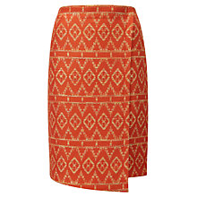 Buy Viyella Elle Print Wrap Skirt, Orange Online at johnlewis.com
