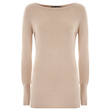 Buy Mint Velvet Button Back Tunic Top, Camel Online at johnlewis.com