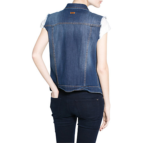 Buy Mango Dark Denim Gilet, Navy Online at johnlewis.com
