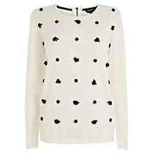 Buy Coast Valencia Knitted Top, Ivory Online at johnlewis.com